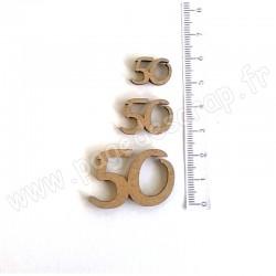 PDS SUJET BOIS 50 COLLECTION CHIFFRE 3 pièces