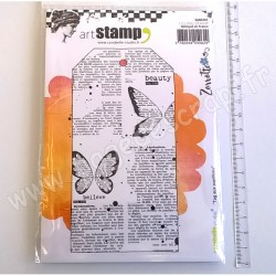 CARABELLE STUDIO TAMPON A6 TAG AUX PAPILLONS BY ZORROTTE