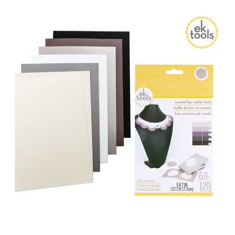 EK TOOLS FAUX LEATHER SOLID SHEETS