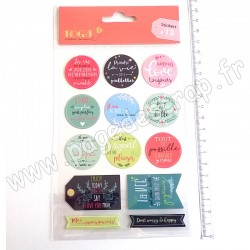TOGA 13 PASTILLES ADHESIVES MESSAGES POSITIFS