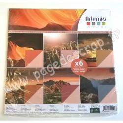 ARTEMIO POCHETTE 6 FEUILLES PHOTOS DESERT 30,5 cm x 30.5 cm