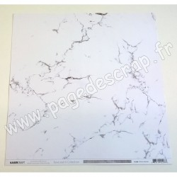 KAISERCRAFT BASECOAT IV COLLECTION WHITE MARBLE 30.5 cm x 30.5 cm