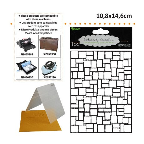 EMBOS TEMPLATE 10.8X14.6CM BRICK WALL PATTERN