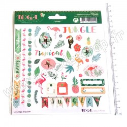 TOGA 2 PLANCHES STICKERS 15 x 15 cm JUNGLE/ZANIMO