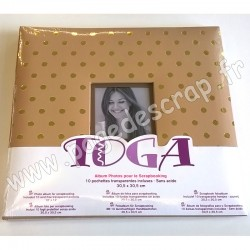 TOGA ALBUM 30 x 30 KRAFT POIS OR