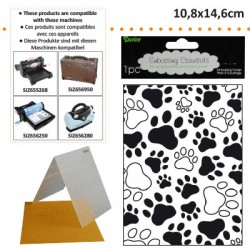 EMBOS TEMPLATE 10.8X14.6CM PAW PRINT