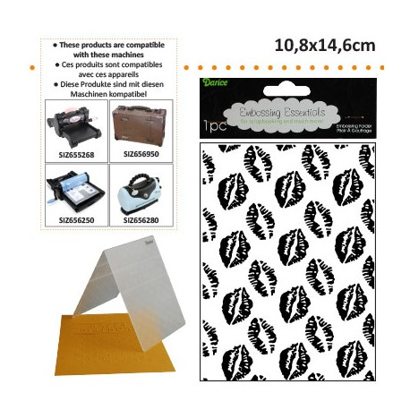 EMBOS TEMPLATE 10.8X14.6CM KISSING LIPS