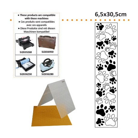 EMBOS TEMPLATE 6.5X30.5CM PAW PRINT