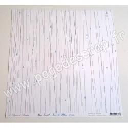 LES PAPIERS DE PANDORE RAIN FOREST JOUR DE PLUIE 30,5 cm x 30,5 cm