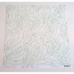 LES PAPIERS DE PANDORE RAIN FOREST CABANE 30,5 cm x 30,5 cm