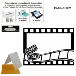 EMBOS TEMPLATE 10.8X14.6CM MOVIE THEME