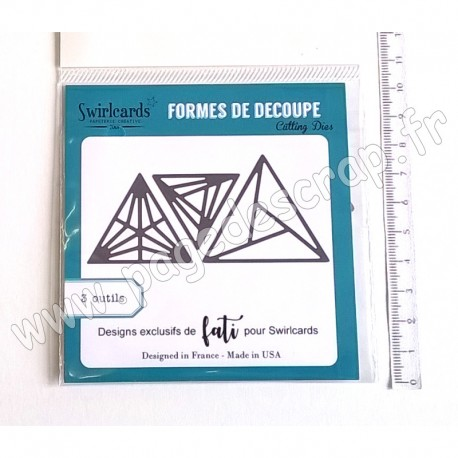SWIRLCARDS DIE TRIANGLES 3 outils