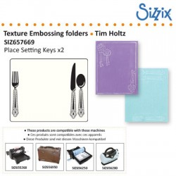TEXTURED IMPRES. EMBOS 2PK PLACE SETTING KEYS