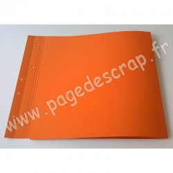 SCRAPFACTORY PAGE DOUBLE ORANGE