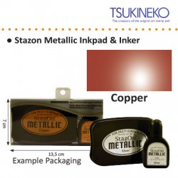 SATZON METALLIC INK PAD & INKER COPPER