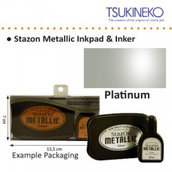 STAZON METALLIC INK  PAD & INKER PLATINUM