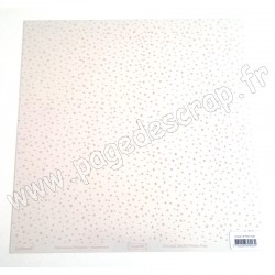 SWIRLCARDS CRYSTAL POIS ROSE 30 cm x 30 cm