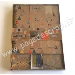 DOCRAFTS SCRAP BOOK SET CAPSULE GEOMETRIC KRAFT