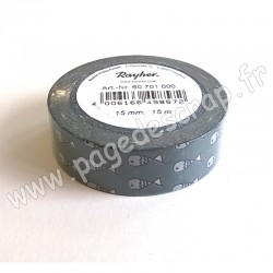 RAYHER WASHI TAPE POISSONS 15 mm x 15m
