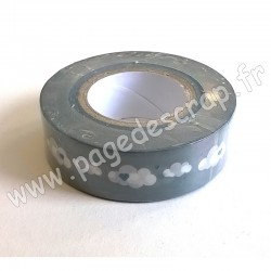 RAYHER WASHI TAPE NUAGES 15 mm x 15m