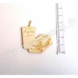 PDS SUJET BOIS FIN 1 mm CASSE-CROUTE ET BOISSON COLLECTION PIQUE-NIQUE