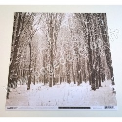 KAISERCRAFT CHRISTMAS EDITION COLLECTION SNOWCAPPED 30.5 cm x 30.5 cm