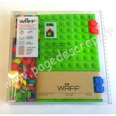 WAFF KIT JOURNAL CREATIF COMBO A5 GREEN