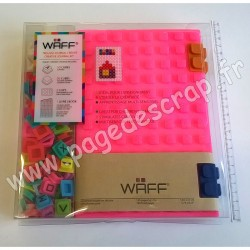 WAFF KIT JOURNAL CREATIF COMBO A5 GLITTER PINK