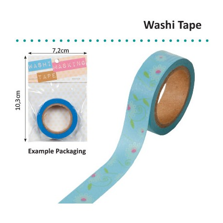 WASHI TAPE FLORAL PINK BLUE