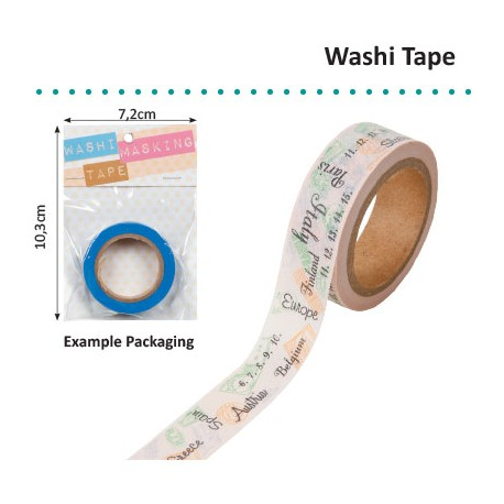WASHI TAPE TRAVEL STAMPS