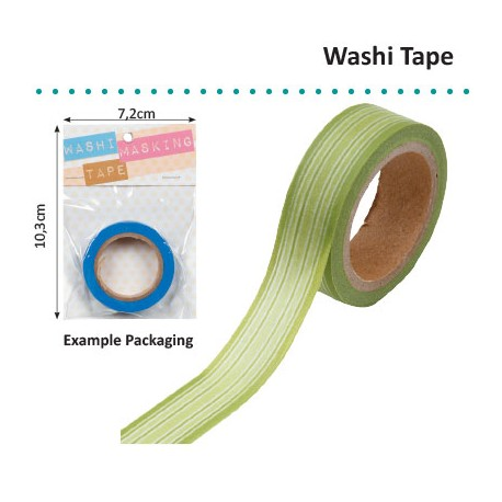 WASHI TAPE GREEN HORIZONTAL STRIPE