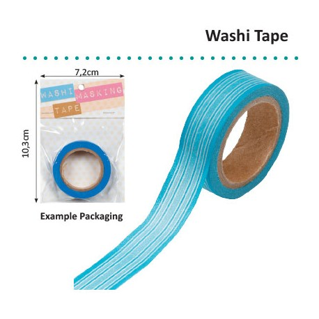 WASHI TAPE BLUE HORIZONTAL STRIPE