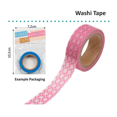 WASHI TAPE PINK ARGYLE
