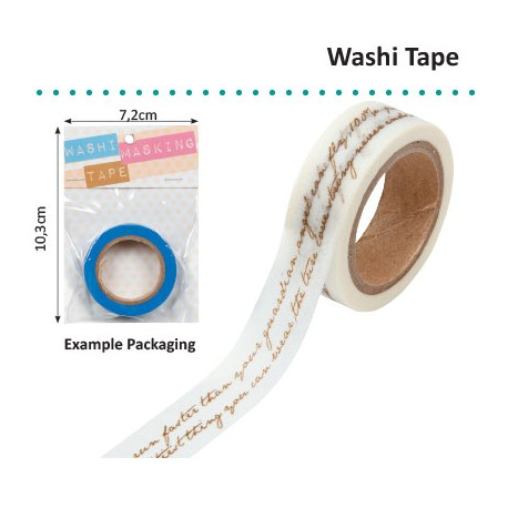 WASHI TAPE GOLD SCRIPT
