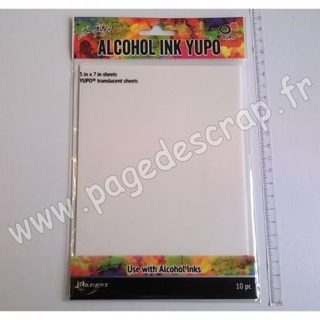 RANGER ALCOHOL INK YUPO PAPER x10 TRANSLUCENT