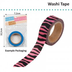 WASHI TAPE ZEBRA HOT PINK