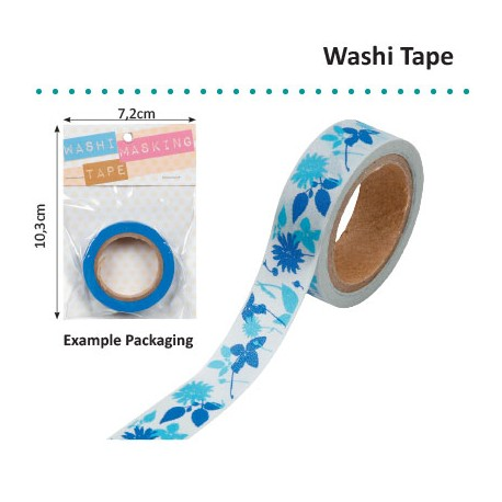 WASHI TAPE FLORAL SILHOUETTE