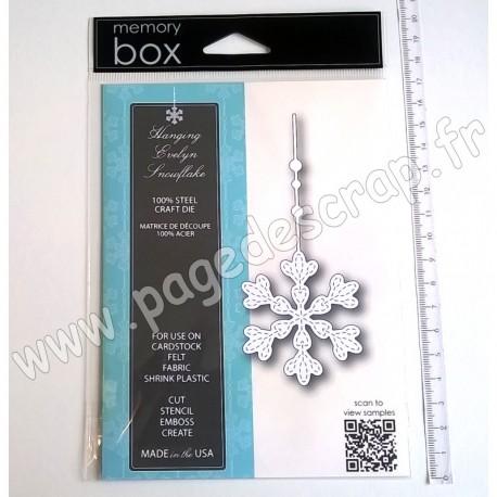 MEMORY BOX HANGING EVELYN SNOWFLAKE