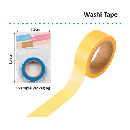 WASHI TAPE 15MMX8M YELLOW