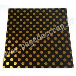 MAHE NOIR & GROS POIS OR 30.5 cm x 30.5 cm