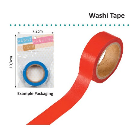 WASHI TAPE 15MMX8M RED