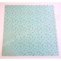 MAHE VERT MENTHE & ETOILES OR 30.5 cm x 30.5 cm