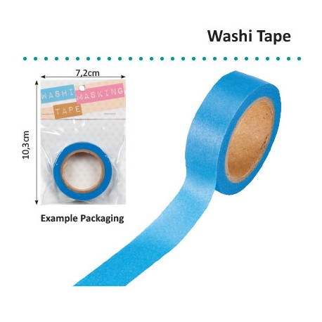 WASHI TAPE 15MMX8M BLUE