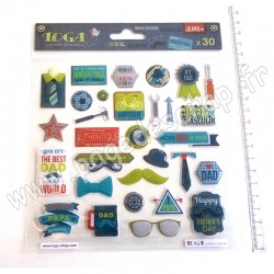 TOGA STICKERS EPOXY 100% MASCULIN