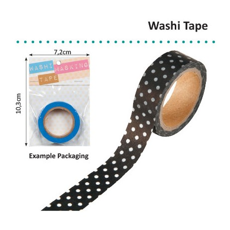 WASHI TAPE 15MMX8M BLACK