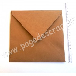 RAYHER CARTE CARREE DOUBLE KRAFT 150 mm x 150 mm