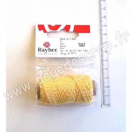 RAYHER FIL 1mm x 35 m JAUNE SOLEIL / BLANC