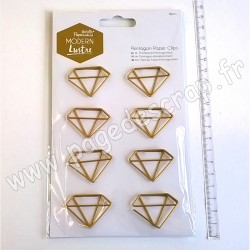 DOCRAFTS PAPERMANIA PENTAGON PAPER CLIPS MODERN LUSTRE