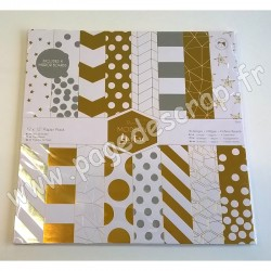 DOCRAFTS BLOC 36 FEUILLES  COLLECTION MODERN LUSTRE 30.5 cm x 30.5 cm