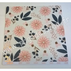 MY MIND'S EYE COLLECTION BLUSH FLOWERS 30.5 cm x 30.5 cm